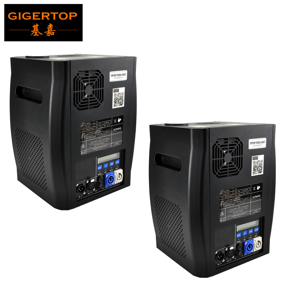 Gigertop 2 Units Sparkular 2-5M DMX 512 Fountain Stage Cold Spark Machine Fireworks LCD Display Power IN/OUT Socket