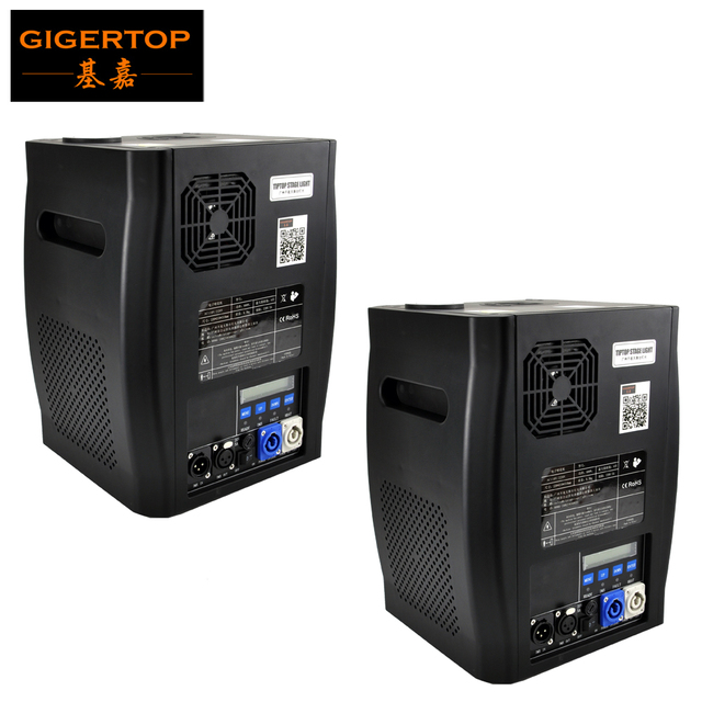 Gigertop 2 Units Sparkular 2 5M DMX 512 Fountain Stage Cold Spark Machine Fireworks LCD Display Power IN/OUT Socket