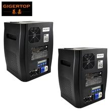 Gigertop 2 unidades sparkular 2 5 m dmx 512 fase fonte fria máquina de faísca fogos de artifício display lcd power in/out soquete
