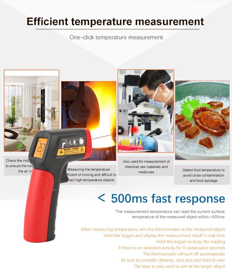 graus a 420 graus mini termômetro infravermelho ut300b +