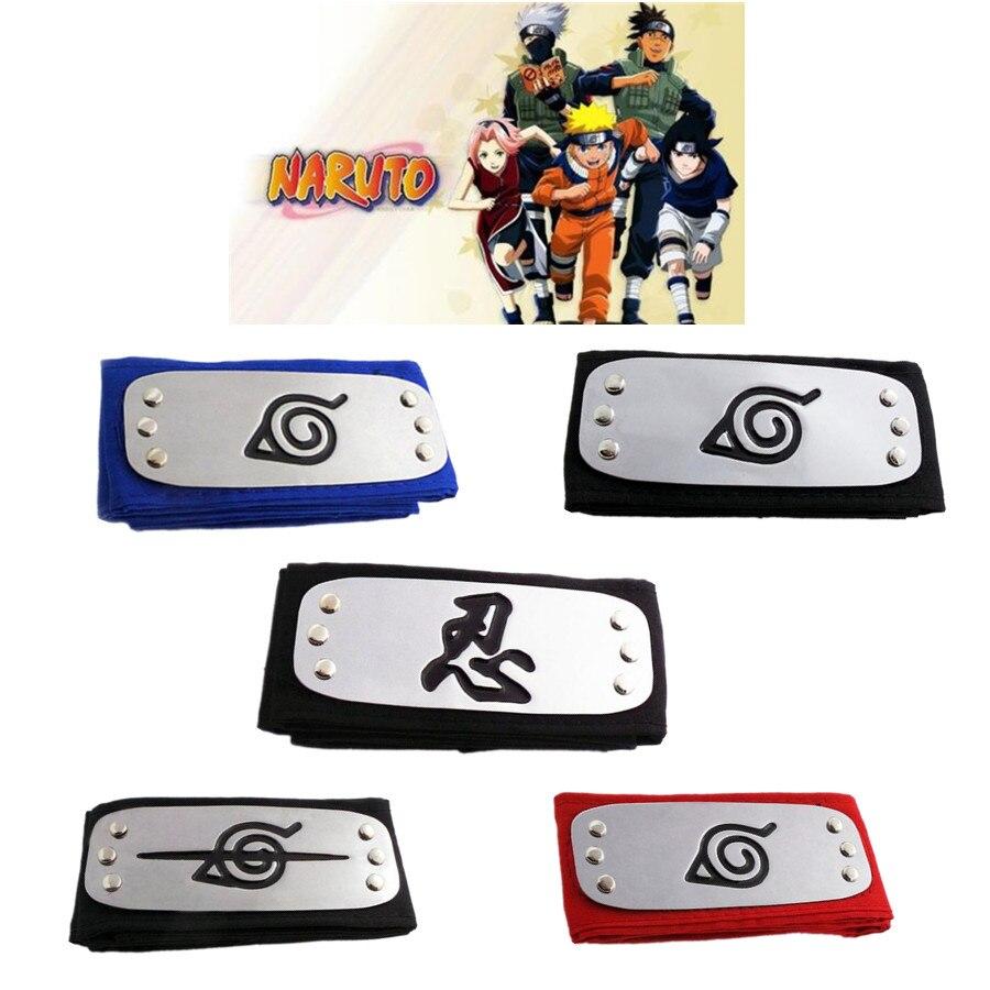 Naruto Kakashi Naruto Anime Headband Cosplay Costumes Props Accessories Toys Itachi Akatsuki Madara Headband Props 2018 New
