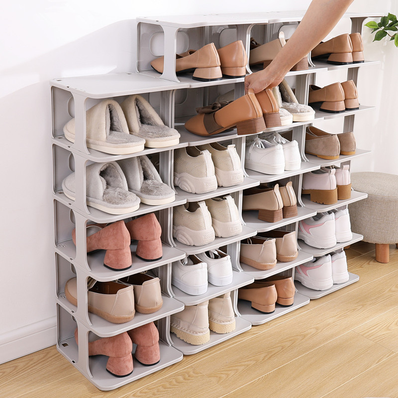 3/4 Layer Shoe Rack Anti-slip Bathroom Slipper Storage Holder Detachable Boot Shlef