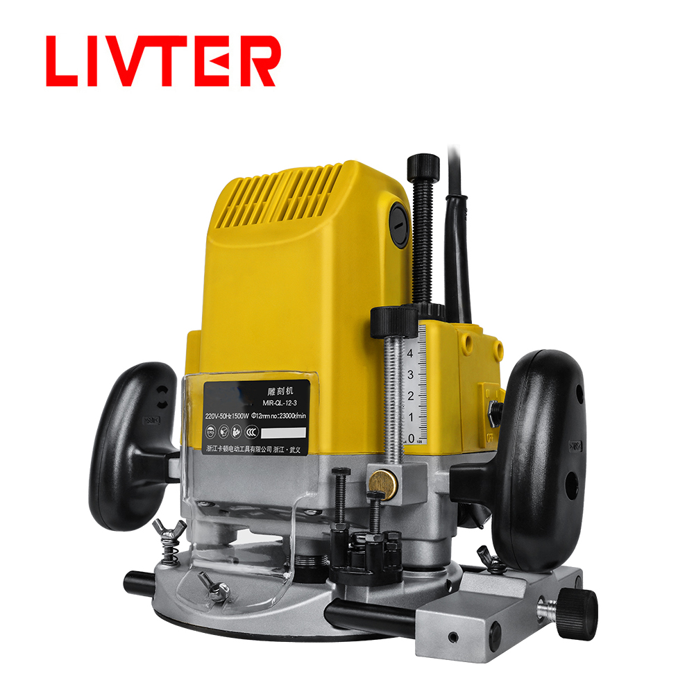 LIVTER Multifunctional Electric Woodworking Hand Plunge Router Machine For Wood Engraving Trimming Milling Tenoning Drilling