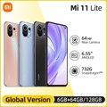 Глобальная версия Xiaomi Mi 11 Lite Смартфон Snapdragon 732 Octa Core 64 Гб/128 ГБ 4520 мАч NFC 64MP Автомобильная камера заднего вида