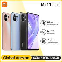 Globale Version Xiaomi Mi 11 Lite Smartphone Snapdragon 732G Octa Core 64GB/128GB 4520mAh NFC 64MP Hinten Kamera