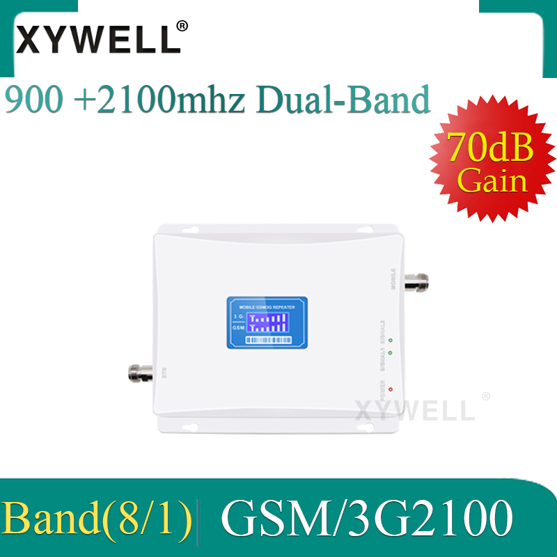 XYWELL 900 2100 2g 3g Signal Booster Dual Band Repeater 2g 3g Repeater Gsm 3g Signal Repeater Phone Signal Booster Amplifier