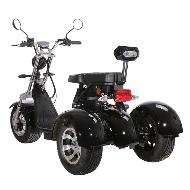 3 Wheel Citycoco Electric Motorcycle Electric Tricycles Adult Icluding EU Customs No Taxes 60V 20ah Removable Lithium Battery 3