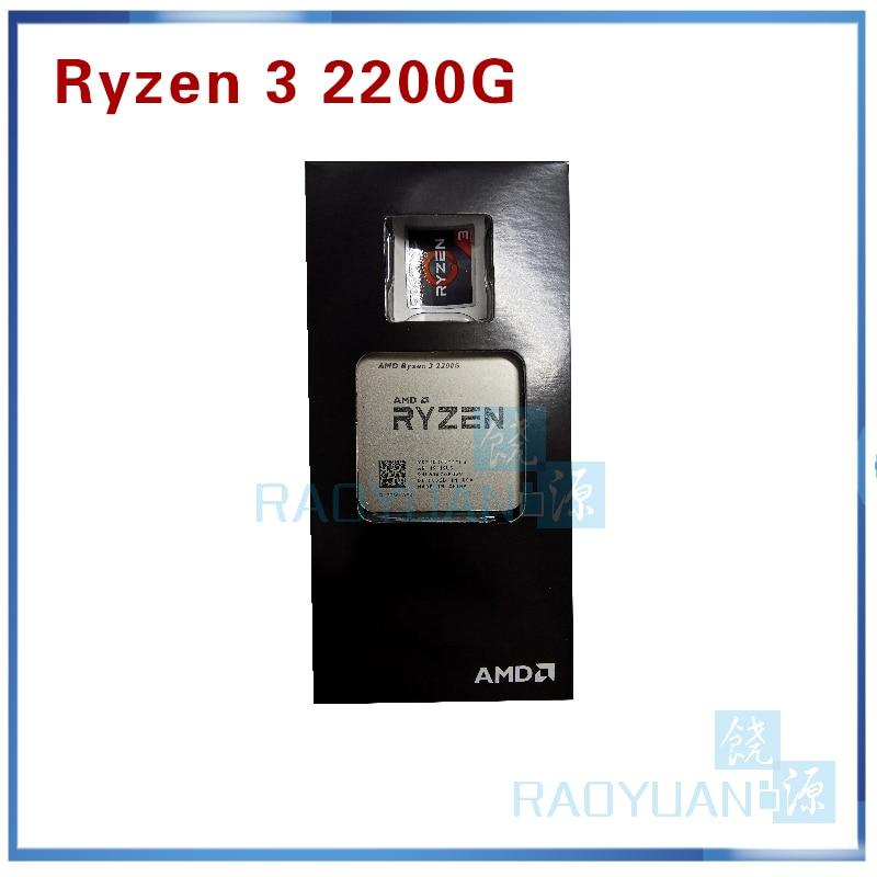 New AMD Ryzen 3 2200G R3 2200G 3.5 GHz Quad-Core Quad-Thread CPU Processor YD2200C5M4MFB Socket AM4