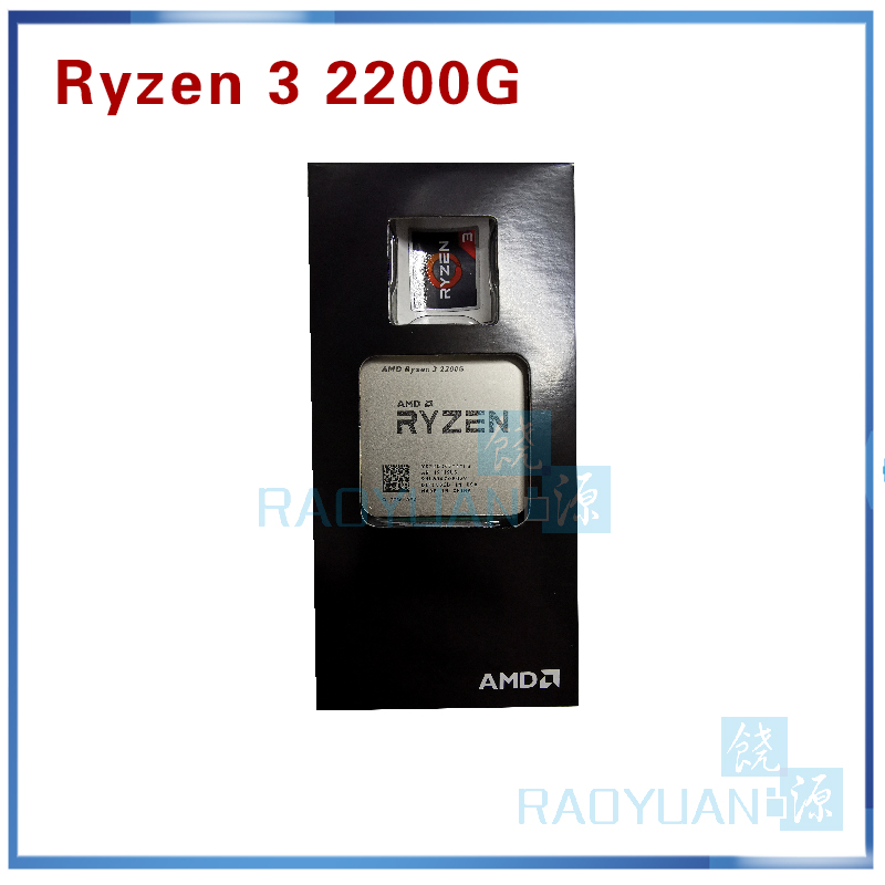 New AMD <font><b>Ryzen</b></font> <font><b>3</b></font> <font><b>2200G</b></font> R3 <font><b>2200G</b></font> <font><b>3.5</b></font> <font><b>GHz</b></font> Quad-Core Quad-Thread CPU Processor YD2200C5M4MFB Socket AM4 image