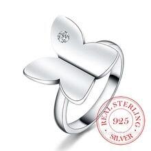 Bagues en Argent Sterling 925 pour hommes et femmes, de haute qualité, papillon en cristal Cz Infinity, 925