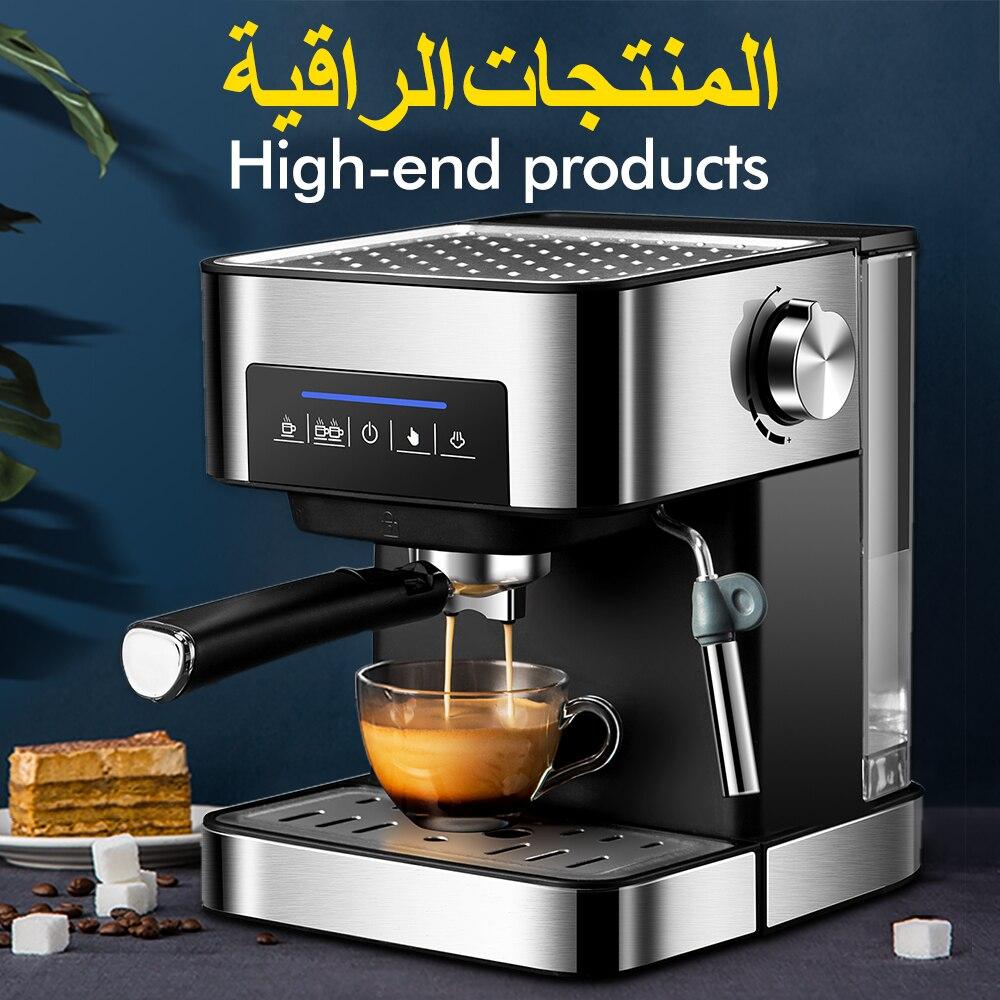Zhoutu Espresso Coffee Machine Built-In Milk Frother 205Bar Coffee Makers 850W Cappuccino Machine   Automatic Coffee Machine