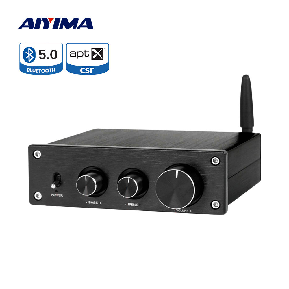 AIYIMA TPA3116 Power Amplifier APTX QCC3008 Bluetooth 5.0 Sound Amplificador Class D 2.1 Channel Subwoofer Amplifier 50Wx2+100W