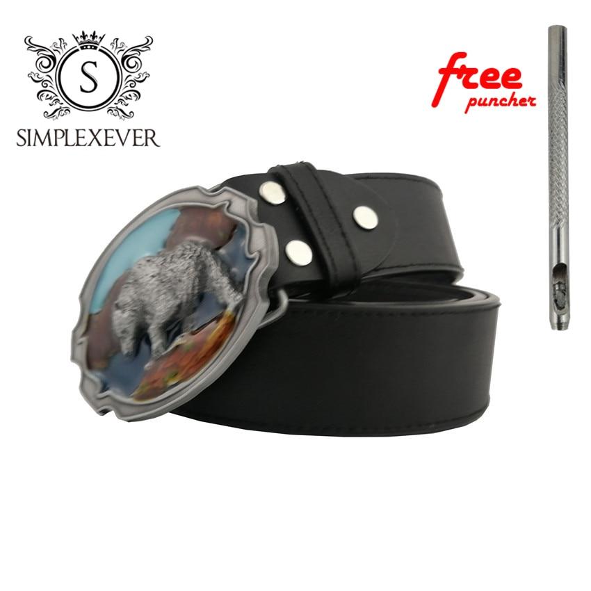 Cool 3D Cute Polar Bear Metal Belt Buckle For 4cm Wide Belt Fashion Men Women Jeans Accessories Drop Shipping