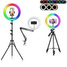Anneau lumineux Led avec trépied, 26cm/10 pouces, éclairage annulaire pour photographie, vidéo en direct, maquillage, Tik Tok
