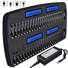 PALO 12/14/16/24/48 sloty szybka inteligentna inteligentna ładowarka AA ładowarka do baterii AAA do 1.2V AA AAA NiMH akumulator niklowo kadmowy