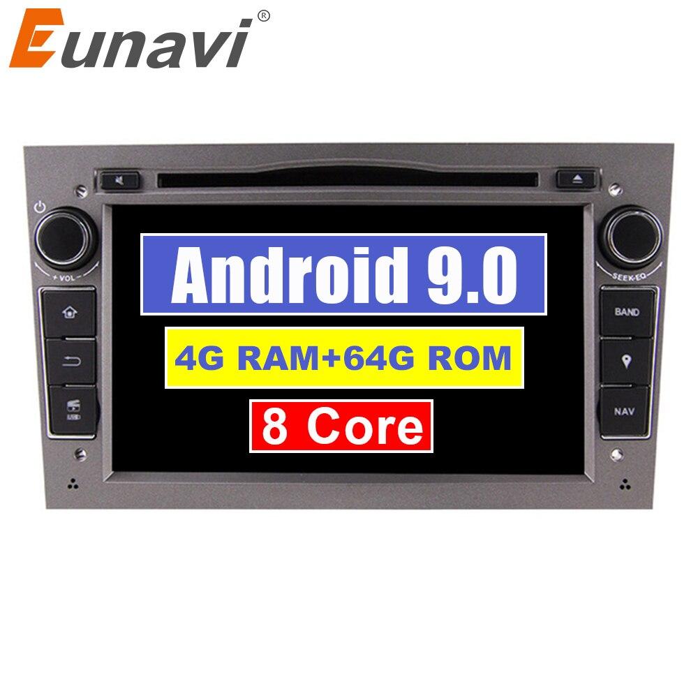Lecteur DVD de voiture Eunavi 2 Din Android 9 1024*600 HD pour Opel Astra Vectra Antara Zafira Corsa multimédia GPS Navi Radio DSP WIFI