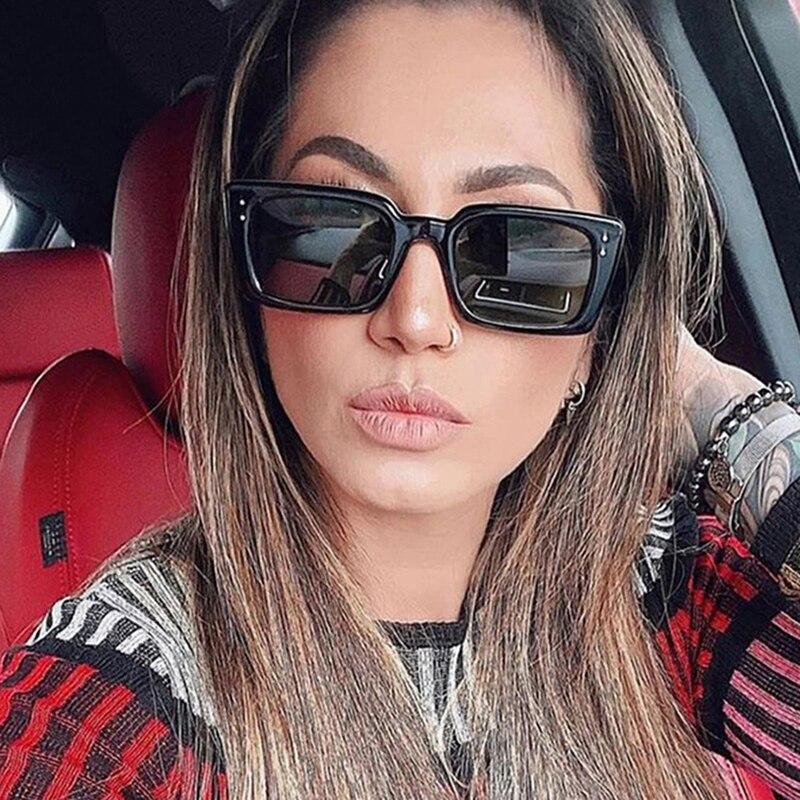 2021 Square Retro Sunglasses Women Vintage Sun Glasses For Women/Men Luxury Brand Eyeglasses Women Small Oculos De Sol