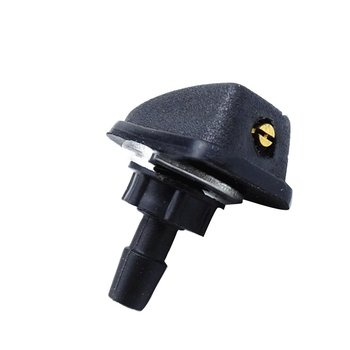 2Pcs Universal Car Vehicle Front Windshield Washer Fan Shaped Water Spout Cover Sprayer Nozzle Black Auto Accessories