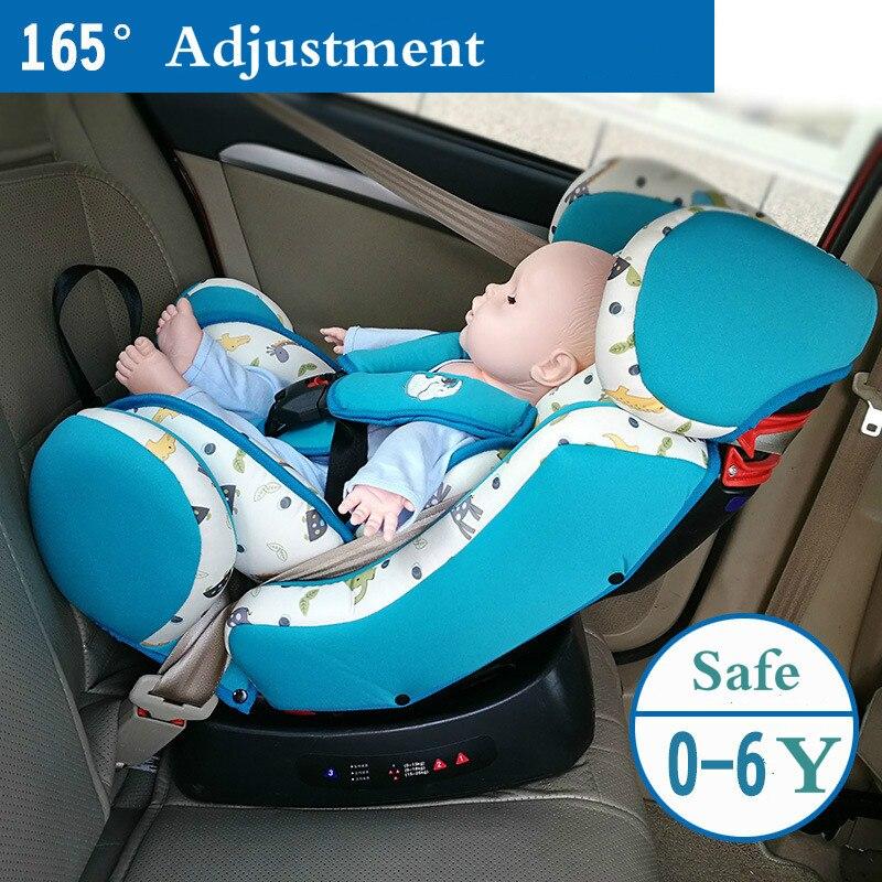 Siège de sécurité bébé peut s'asseoir inclinable siège de voiture enfant chaise bébé pour 0-4-6 ans fixation de ceinture de sécurité