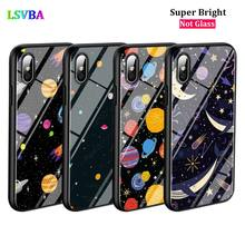 Black Cover Space Planet Stars for iPhone X XR XS Max for iPhone 8 7 6 6S Plus 5S 5 SE Super Bright Glossy Phone Case black cover japanese samurai for iphone x xr xs max for iphone 8 7 6 6s plus 5s 5 se super bright glossy phone case