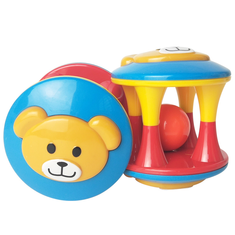 Cute Handbell Musical Developmental Bed Bell Baby Toy Rattle Three-color Ball GA