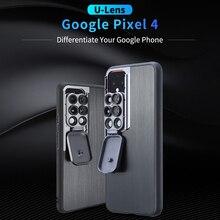 Ulanzi 6 in 1 U Lens 휴대 전화 케이스, Google Pixel 4 Pixel 4XL10X 20X 매크로/이중/광각/어안 렌즈 용 멀티 렌즈 포함