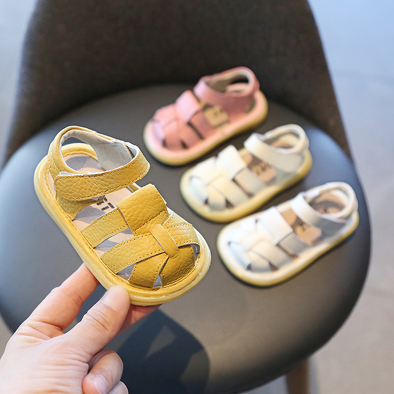 2020 Summer Baby Girls Boys Toddler Sandals Infant Shoes Comfortable Soft Bottom Non-slip Leather Shoes Children Casual Sandals