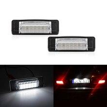 CANbus – lumière de plaque d'immatriculation arrière Led, pour Mercedes Benz W210 E300 E320 E420 W202 4D C230 C280 C43 AMG blanc