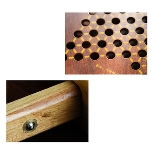 Image 4 - Top Grade Multicolor Marmor Chinese Checkers Schach Set Feine Holz Schachbrett Klassische Familie kinder Party Spielen Board Spiel
