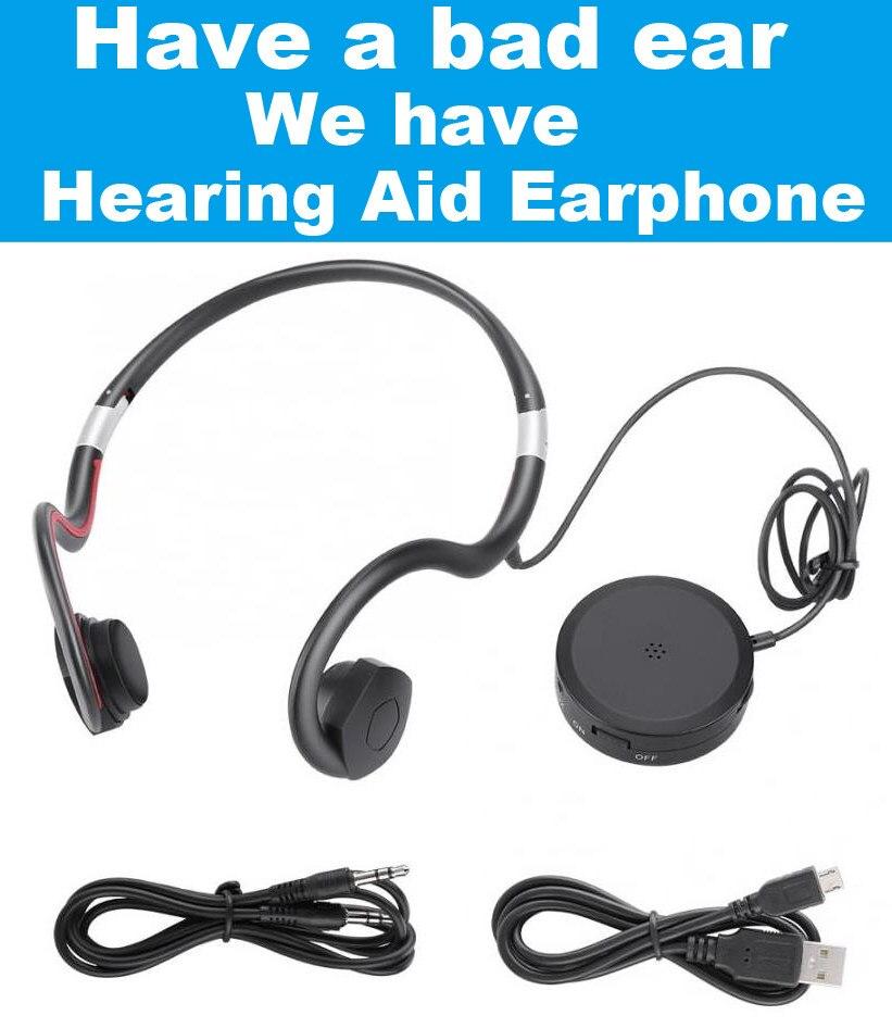 Bn802 Hearing Aid Headphone Bone Conduction Earphone Old Man Headset Sports Earphone Built In Battery Sound Amplifier Earphones Headphones Aliexpress