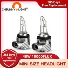 CNSUNNYLIGHT ใหม่ล่าสุด1:1ขนาด H11 H4 H7 Mini LED ไฟหน้ารถหลอดไฟไร้สาย9005 9006 HB3 HB4 H8 6000K สีขาวไฟตัดหมอกอัตโนมัติ