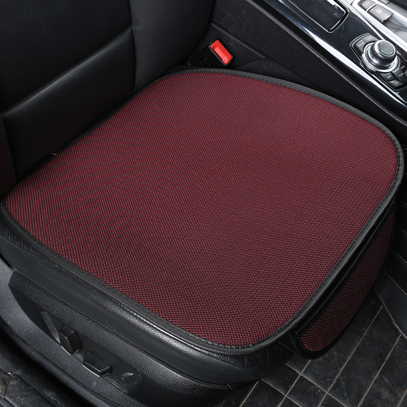 Summer Car Seat Cover Cushion Ventilated Breathable Comfortable Cool Front Seat Protector Pad Anti-skid With Pocket Universa