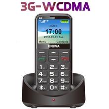 3G WCDMA russe clavier téléphone portable 2.31 pouces gsm 1400mAh bouton poussoir SOS FM pas cher débloqué simple sim vieil homme téléphone portable