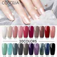 Ensemble de vernis à ongles COSCELIA Gel UV ensemble de vernis à ongles 8ml manucure Gel UV Gel UV vernis de couleur tout pour manucure pédicure outils à ongles