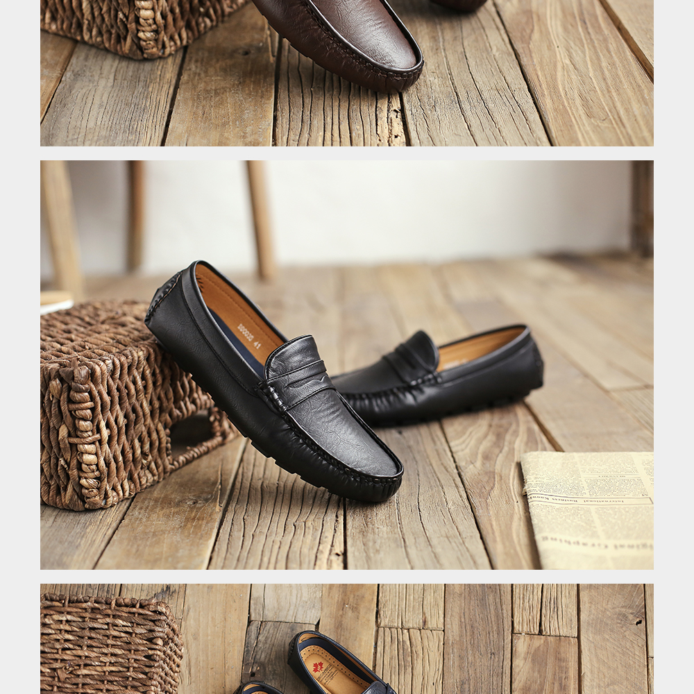 Hf27645431a2c4399bb5f6df55d029018P Men's Casual Shoes Men Moccasins Autumn Fashion Driving Boat Shoes Male Leather Brand Slip-On Classic Men's shoes Loafers