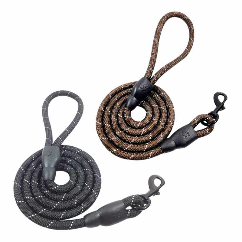 Grande laisse en Nylon pour chien corde de Traction réfléchissante pour animaux de compagnie