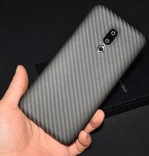 Carbon Fiber Case Cover Voor Meizu 17 Pro 16S Pro 16th Plus Ultra Dunne Zakelijke Handgemaakte