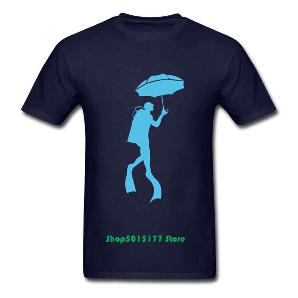 Baru Desain Kreatif Scubrella Scuba Diving Membuka Payung T Kemeja Pria 2019 Penyelam Scuba Menyelam Perenang Pecinta Tee Camisetas