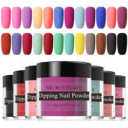 Nicole Diary 10 г матовый цвет погружения ногтей порошок натуральный сухой украшения для ногтей без лампы лечения Ногтей Пыли декоры