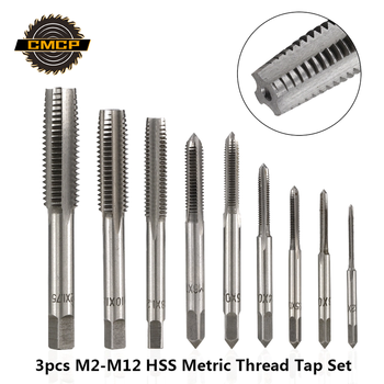 3pcs M2 M2.5 M3 M3.5 M4 M5 M6 M8 M10 M12 Metric Thread Taps HSS Screw Tap Drill Bit Set Straight Flute Plug Taps Hand Tools cronametal hss co screw thread tap metric machine and hand tools m2 m3 m4 m4 5 m5 m6 m7 m8 m10 m12 m14 m16 m18 hand tap