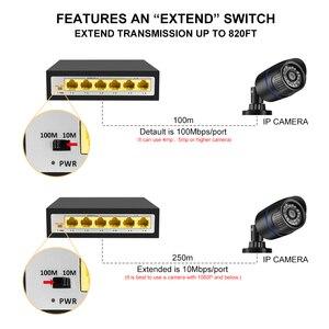 Image 3 - CCTV PoE Net Anahtarı 4 Portlu 10/100M Hub Ethernet Üzerinden Güç PoE & Optik Şanzıman 15W IP Kamera Sistemi Ağ Switcher