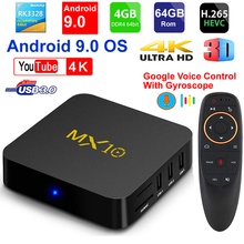 2019 New MX10 Android TV BOX Android 9.0 RK3328 Quad core 4G