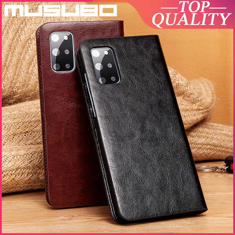 Musubo Asli Kulit Case untuk Samsung Galaxy S20 Ultra Luxury Flip S20 Plus Cover S20 + 10 Card Slot + dompet Casing Funda Capa