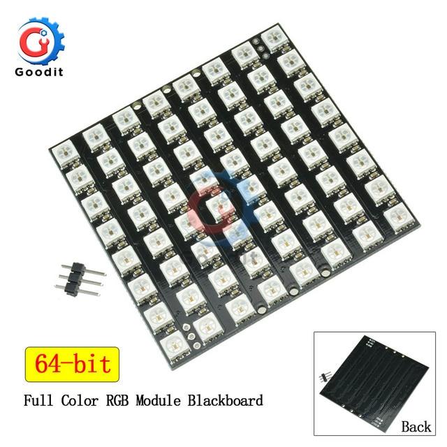 64 Bit WS2812 5050 RGB LED Square Board