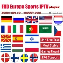 IPTV subscription live smart tv box Europe IPTV Nederland Sw