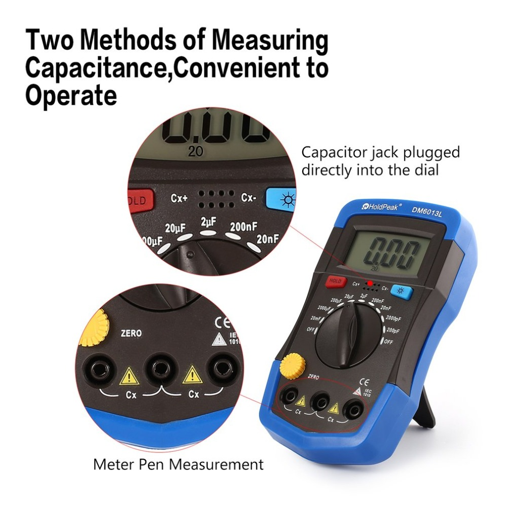 DM6013L электронный измеритель емкости, электронный Суперконденсатор, измеритель емкости, цифровой измеритель