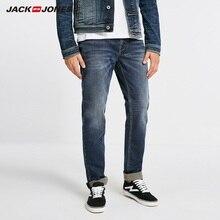 JackJones ของผู้ชายฤดูหนาว WARM สบายกางเกงยีนส์บุรุษ 218432514