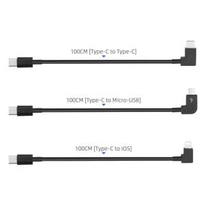 Image 5 - 1m cabo de dados para dji fpv óculos de proteção v2 telefone tablet micro usb tipo c ios conector linha de transmissão fpv combinação vôo óculos fio