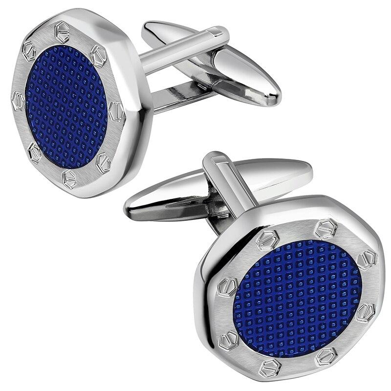 HAWSON Classic Enamel Cufflinks For Men Fashion Jewelry Men's  Cufflinks Wedding-9 Colors Options For Man