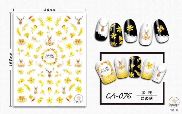 Купить наклейка для дизайна ногтей morixi сезон осень кленовые листья картинки цена